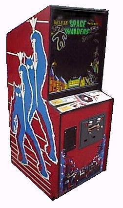 Original Red Space Invaders Arcade Machine
