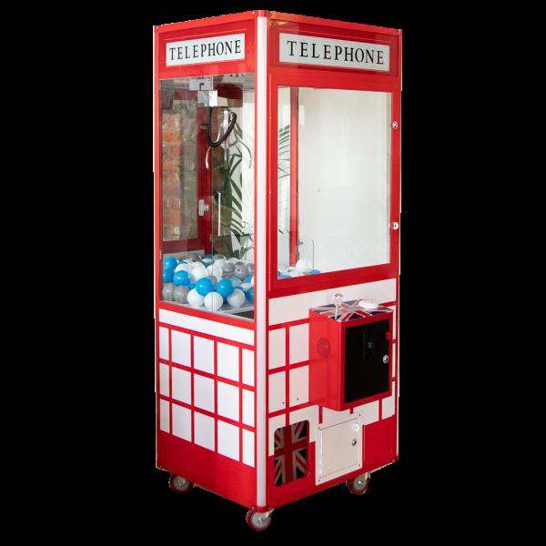 telephone box grabber claw machine